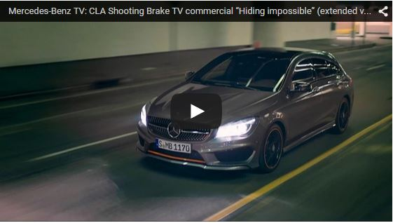 The new CLA Shooting Brake TVCM