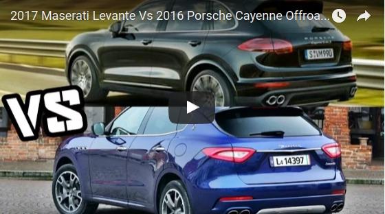 2017 Maserati Levante Vs 2016 Porsche Cayenne Offroad Driving YouTube