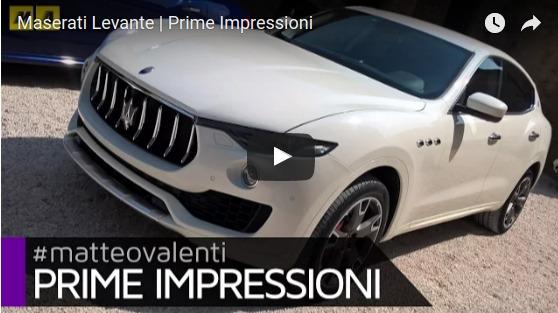 Maserati Levante Prime Impressioni YouTube