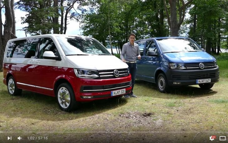 All new Volkswagen VW Transporter Multivan T6 FULL REVIEW test driven 2016 passenger commercial YouTube