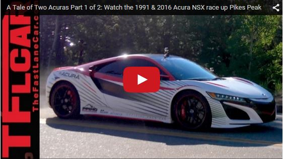 ACURA NSX pikespeak pacecar