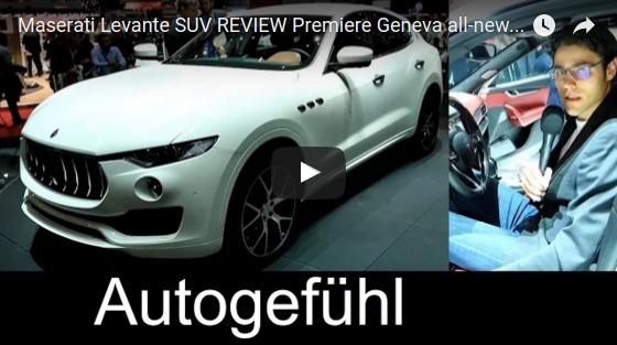 Maserati Levante SUV REVIEW Premiere Geneva all new neu 2017 YouTube