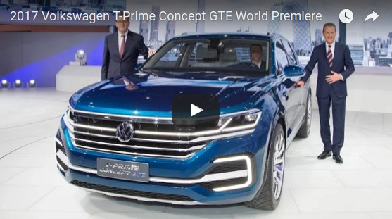 2017 Volkswagen T Prime Concept GTE World Premiere YouTube