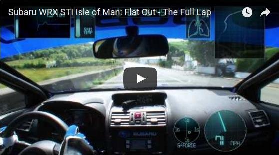Subaru WRX STI Isle of Man  Flat Out   The Full Lap   YouTube