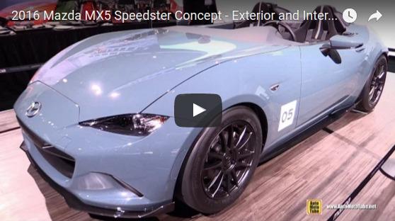 2016 Mazda MX5 Speedster Concept Exterior and Interior Walkaround 2016 Detroit Auto Show YouTube