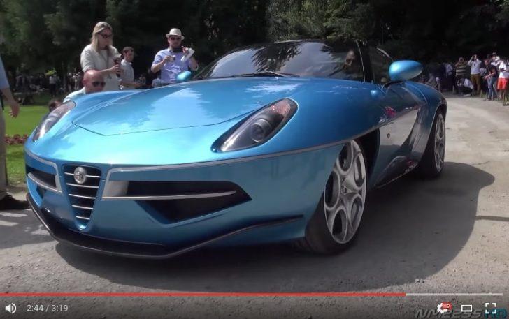 Alfa Romeo Disco Volante Spyder AMAZING V8 Sound Start Up LOUD Revs YouTube