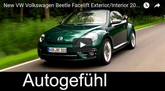 New VW Volkswagen Beetle Facelift Exterior Interior 2017 VW neu Autogefühl YouTube