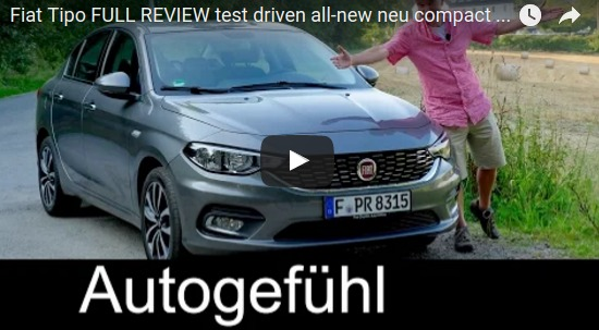 Fiat Tipo FULL REVIEW test driven all new neu compact sedan Limousine 2017 YouTube